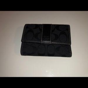 Coach black signature wallet!